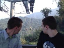 Clay and Carter Hoon enjoy the Gondola.