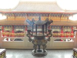 Incense receptacle on the second level behind the front structure.