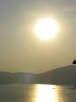 The light at Sun Moon Lake can get quite dramatic at certain times of the day...like sunset.