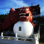 These lions are pretty imposing, definitely creating a mood for your temple visit.
