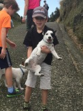 Bodhi gives Scout a lift.