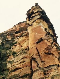 Crazy cliffs stretch skyward.